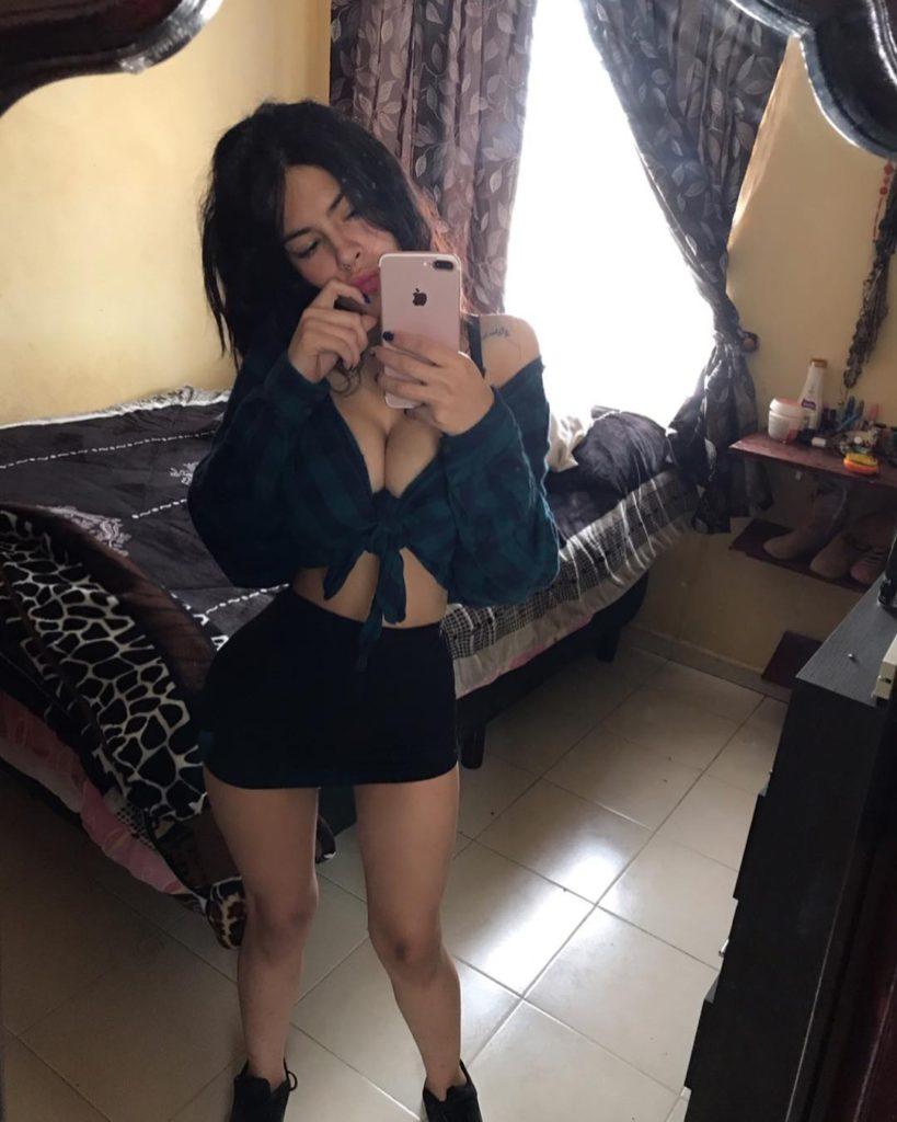 Arely V slim body in Huge Tits